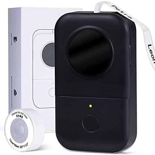Phomemo D30 Mobiler Bluetooth Beschriftungsgerät, Selbstklebend Etikettiergerät Kompatibel Mit Ios Android, Tragbarer Mini Etikettendrucker Für Zuhause Büro Schule Etikettierung (Schwarz)
