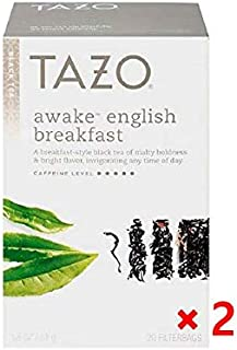 Tazo Awake English Breakfast Black Tea Tea Bags, 20ct(pack of 2)