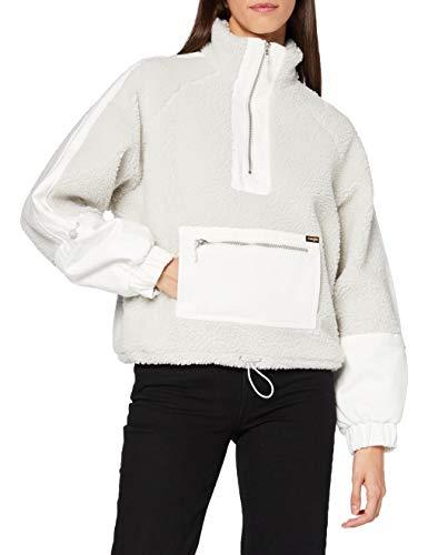 Wrangler Denim Sherpa Pop Overshirt Chaqueta, Lunar Rock Grey, S para Mujer