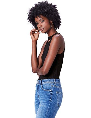 find. 17AMZ023 camisetas mujer fiesta,, Negro (Black), 42 (Talla del Fabricante: Large)