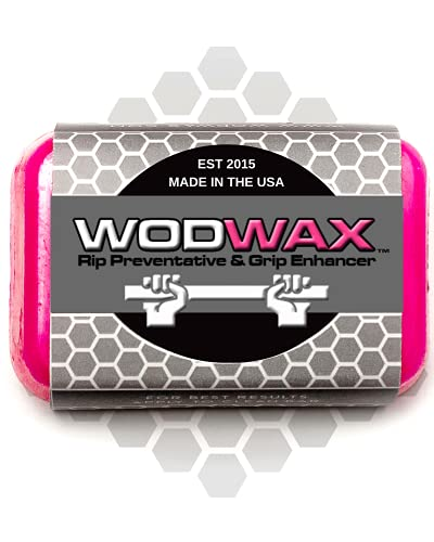 WodWax The Original Cross Fit Bar Wax for Better Grip   Grip Tape, Chalk, Gloves Alternative   Protect Hands, Improve Form   Home, Gym Workouts, Weightlifting   Easy Clean Up   60g Bar