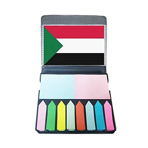 Sudan Nationale Vlag Afrika Land Zelf Stick Note Kleur Pagina Marker Doos