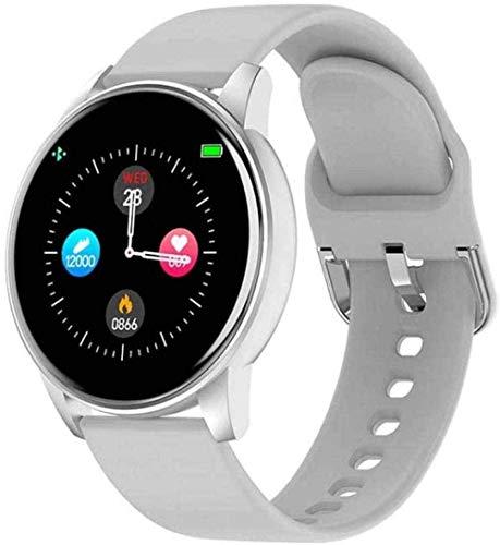 JSL Reloj inteligente con Bluetooth, rastreador de actividad para mujeres y monitor de frecuencia cardíaca, IP67, impermeable, apagado automático