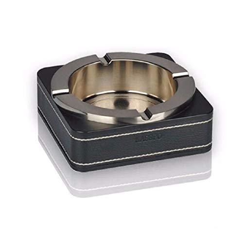 ZPSPZ cenicero Abalorios de aleacion de Zinc Bar cenicero cenicero Metal Europeo práctico,E