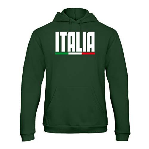 REITANO GROUP Felpa con Cappuccio Uomo Italia Forza andrà Tutto Bene c'è la faremo ZB107 (XL, Bianco)