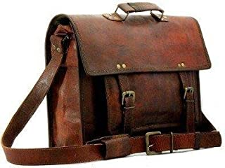 TUZECH Pure Leather Bag Modern Light- Weight Messenger Satchel Bag - Fits Laptop Upto (18 Inches)