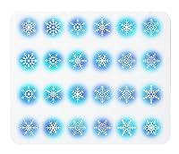 24種類の雪の結晶のマウスパッド:フォトパッド(ミクロの世界シリーズ) (B)