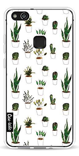 P10 Lite telefoonhoes met veel ruimte voor je identiteitskaart, bankpas en meer. De schokabsorberende en krasbestendige hoes voor de Huawei P10 Lite met plants in White Pots - CASETASTIC