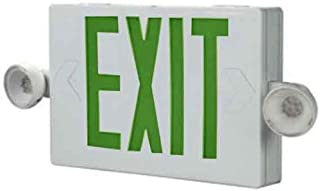 ALL-PRO Emergency APC7G Combo Unit LED-Exit Sign with Dual Lights, Green Letters