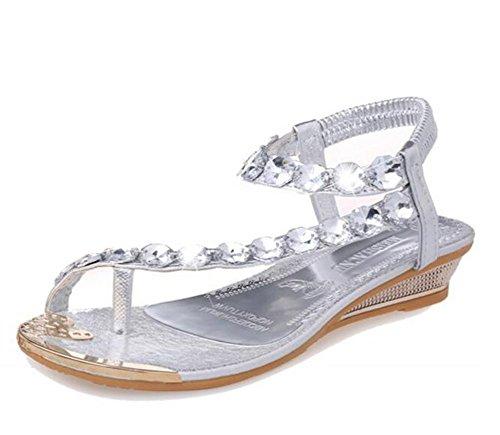 wealsex Sandales Compensées Sandale Plate Orthopedique...