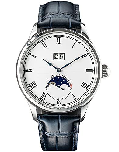 SU2528SW MoonPhase Master Gaviota ST2528 Movimiento Zafiro Cristal Reloj Mecánico Automático para Hombre 1963
