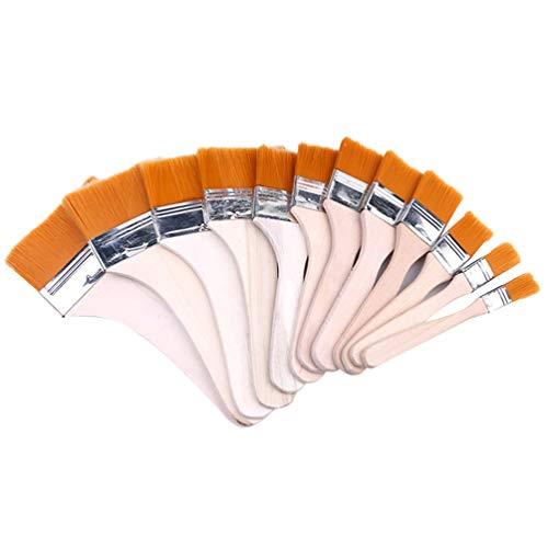 Healifty 12 Stück Kreidefarbe Wachspinsel Set Naturborsten Runde Pinsel Werkzeug für Möbel Wohnkultur Wachsen