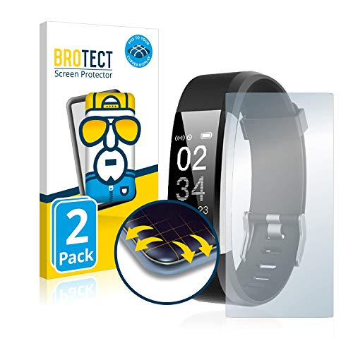 BROTECT Protector Pantalla Completa Compatible con Toplus Fitness Tracker SW333 (2 Unidades) 3D Curvo