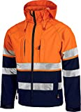 Work Team Workshell Combinado con Alta Visibilidad, 2 Cintas Reflectantes. Hombre Marino+Naranja A.V. XL
