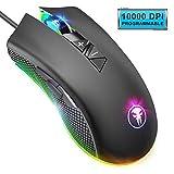 YockTec Mouse Gaming Ottico a Retroilluminati a RGB, 8 Pulsanti Programmabili Professionisti Mouse...