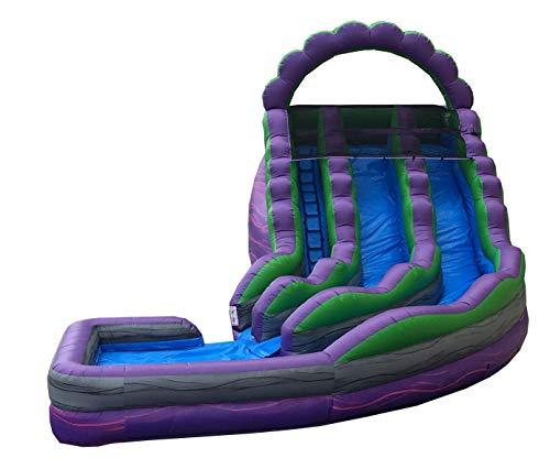 Best Prices! TentandTable Purple Marble Double Lane Wet or Dry Slide, 32-Foot Long by 25-Foot Wide b...
