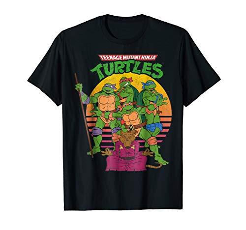 Teenage Mutant Ninja Turtles Retro Sun Group Tee-Shirt, Adult and Child Sizes up to 3XL