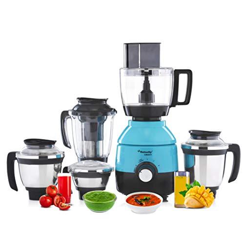 Butterfly Cresta Food Processor, 1 HP, 750-Watt, 5 Jars (Turquoise Green / Black)