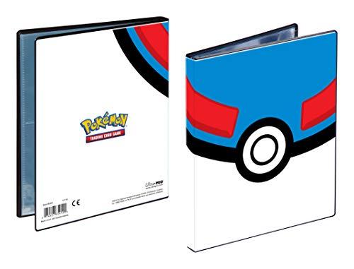 Ultra Pro UPR85452-P - Cartera de 4 bolsillos para pelotas Pokémon