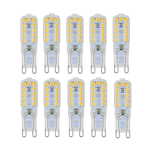 Luce di mais G9 LED. BULB BULB BULB BI-PIN Base 5W Sostituzione equivalente Sostituzione 50W Lampada alogena AC 110 AC 220 LED Luce per camera da letto, illuminazione domestica, ristoranti, ufficio ec