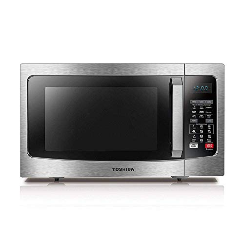 Toshiba EC042A5C-SS Countertop Microwave Oven with Convection, Smart Sensor, Sound On/Off Function and LCD Display, 1.5 Cu.ft, Stainless Steel (Renewed)