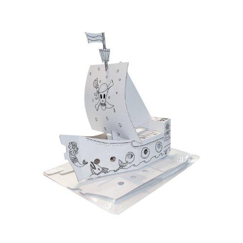 KREUL Joy Pack 39102 – Carton De Bricolage Bateau Pirate Imprimé