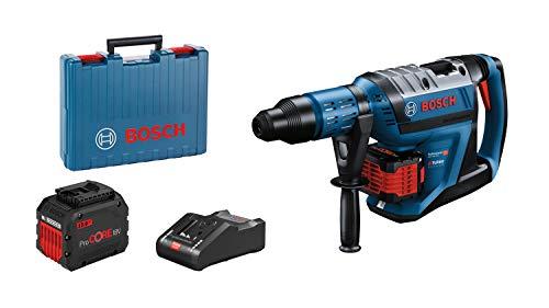 Bosch Professional BITURBO Akku Bohrhammer GBH 18V-45 C (12,5 Joule, inkl. Connectivity-Modul, voreinstellbare Drehzahlstufen, 2x12.0 Ah ProCORE18V Akku + Ladegerät GAL18V-160, im Koffer)