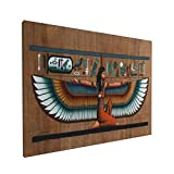 AuHomea Lienzo decorativo de 40,6 x 30,5 cm, diseño de papiro egipcio con diosa alada, impreso en la pared, listo para colgar obras de arte sin marco para decoración de sala de estar