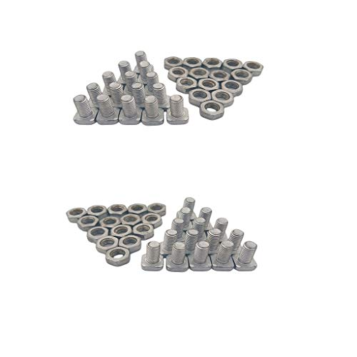 perfk 30 Stück Set Aluminiumlegierung Vierkantkopf Gewächshausmuttern Und Schrauben Ersatz