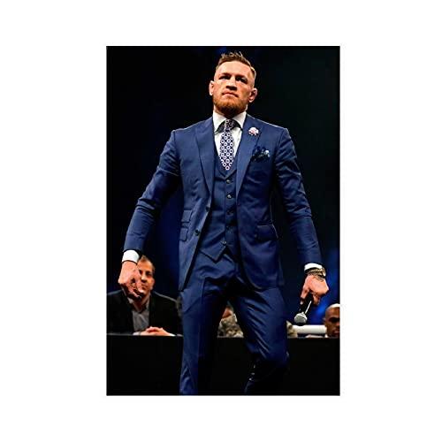 Conor McGregor UFC - Póster de estrella de combate 3 en lona, decoración de dormitorio, deportes, paisaje, oficina, habitación, decoración, regalo de 40 x 60 cm