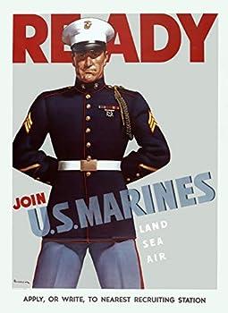 WW2 United States Marine Corps USMC Recruitment Wall Poster Art Print Devil Dogs