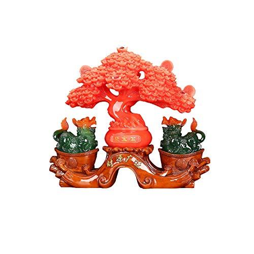 Buddha decorativos PI XIU Decoraciones Fortune Tree Home Sala de estar Cabineta TV Cabineta PI XIU Decoraciones Felicitaciones al abrir Regalos Colección Artesanía Estatuas Buddha Figures Sculpture