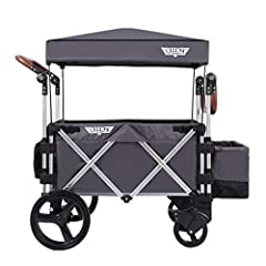 VERSATILE STROLLER WAGON: Keenz Stroller Wagons are designed with the active family in mind - use the 7S pull/push wagon stroller for trips to the park or beach, sporting events, family outings, and more. SAFE, SECURE STROLLER: Designed to grow with ...