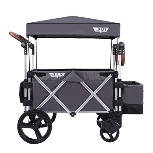 Keenz Stroller Wagon – 7S Pull/Push Wagon Stroller – Safe and Secure Baby & Big Kids Wagon with Canopy & Other Accessories Included – Versatile Wagon Stroller Ideal for Special Needs, Grey