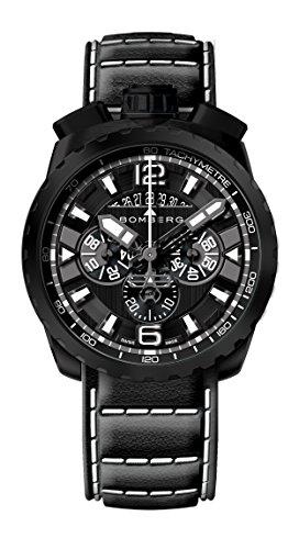 Bomberg Herren Chronograph Quarz Uhr mit Leder Armband BS45.050.6.3