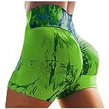 SSDXY Women's Tie-dye Workout Shorts Scrunch Booty Gym Yoga Pants Butt Lifting...