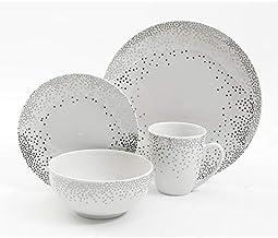 مجموعة ادوات المائدة من السيراميك من جيبسون، 16 قطعة، الوان متعددة