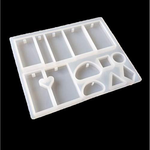 Laxtto Kristall Tropf Kunststoff Halskette Anhänger SilikonformDIY Handbuch tetragonale ovale Puzzles mit Lochmuster