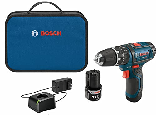 BOSCH PS130-2A 12-Volt Lithium-Ion Ultra-Compact Hammer Drill/Driver Kit, 3/8-Inch , Blue