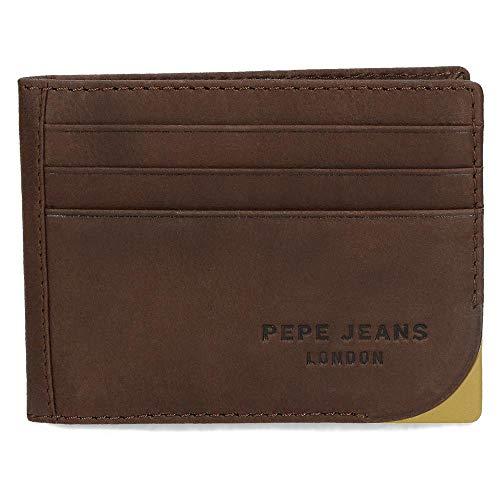 Pepe Jeans Arrow Tarjetero Marrón 9,5x7,5 cms Piel
