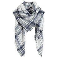 SUNDAY ROSE Women Plaid Blanket Scarf Oversized Tartan Scarves Long Shawl Wraps
