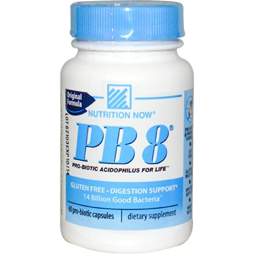 Probiótico Nutrition Now PB8 Fórmula Original (60 Cápsulas)