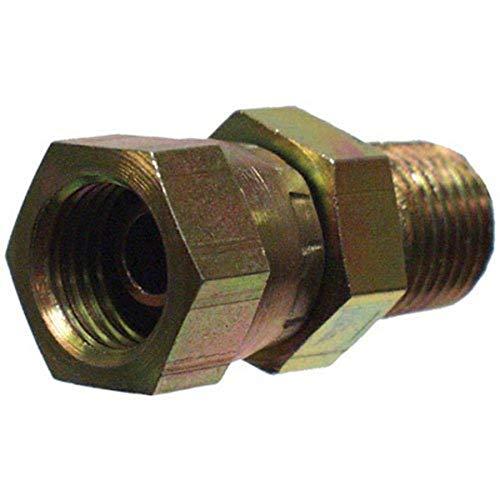"Apache 39004250 3/8"" Male Pipe x 1/4"" Female Pipe Swivel, Hydraulic Adapter"