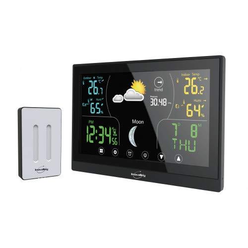 Inovalley - Estación meteorológica con pantalla LCD, color táctil