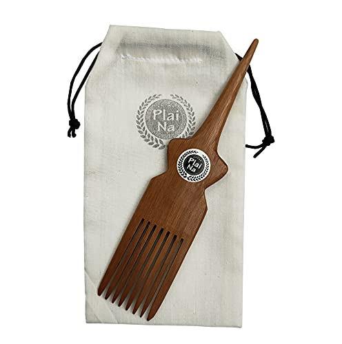 Plai Na Comb for African Hair  Parting Comb for Braiding Wooden Afro Pick Comb Hair Parting Tool