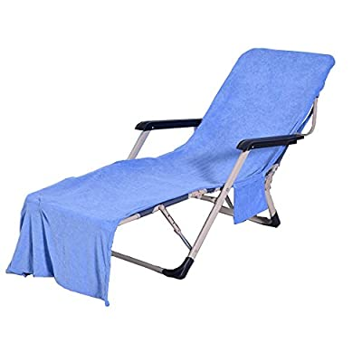 VOCOOL Chaise Lounge Pool Chair Cover Beach Towel Fitted Elastic Pocket Won't Slide