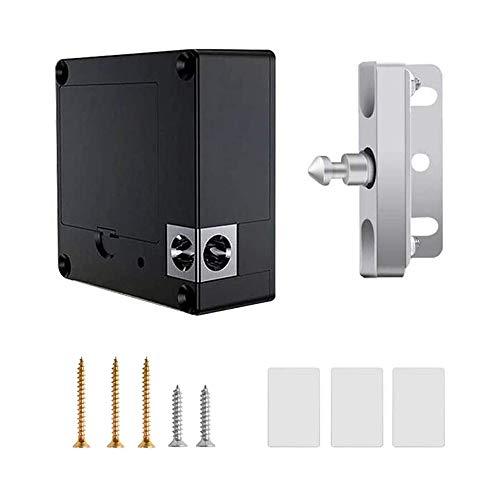 Cerraduras electrónicas de gabinete, kit de bloqueo RFID, cerradura de cajón de bricolaje con tarjeta IC y entrada de etiqueta para madera de plástico de vidrio gabinete de cajón