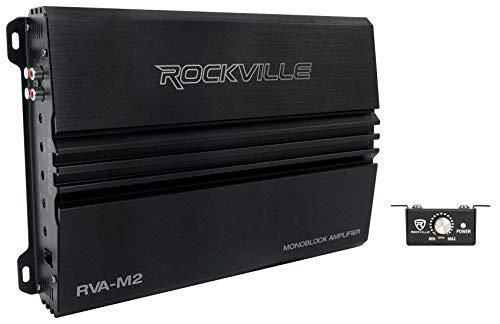Rockville RVA-M2 2500w Peak/625w Dyno-Certified RMS @ 1 Ohm Amplifier Mono Car Amp+Remote