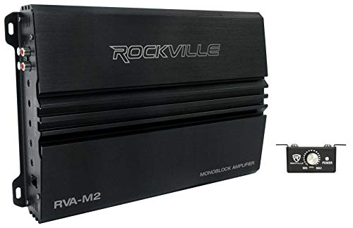 Rockville RVA-M2 2500w Peak/625w CEA RMS @ 1 Ohm Amplifier Mono Car Amp+Remote