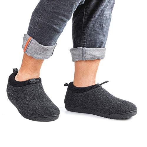 ULTRAIDEAS Men's hardwood floor slippers